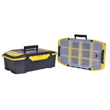100 Plastic Truck Toolbox STANLEY Portable Tool Box Organizer Trailer