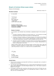 Notice Of Breach Of Contract Letter Template Collection