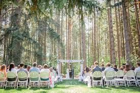 Outdoor Ceremony In The Woods Deep Events Elmira Oregon Near Eugene