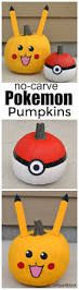 Pikachu Pumpkin Stencil Printable by No Carve Pokemon Pumpkins The Resourceful Mama