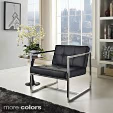 Hover Black Modern Reception Chair Option White