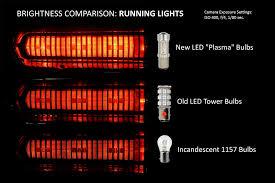 new 1157 plasma led taillight bulbs friggin bright
