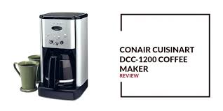 Cuisinart Coffee Maker Reviews Brew Central Cup Programmable Coffeemaker Review K
