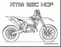 Awesome Ktm Dirt Bike Coloring Pages Printable With Motorcycle And Harley