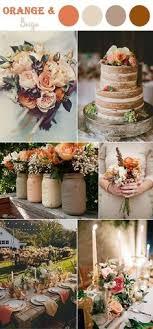 Burnt Orange Peach and Plum Wedding Autumn Wedding Colors