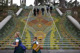 16th Ave Tiled Steps Project by Stairway To Lincoln Park Perfectly In Step With Neighborhood San