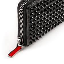 panettone zipped continental wallet black calfskin accessories