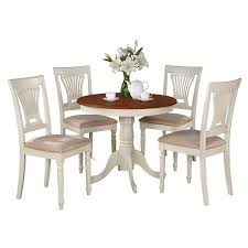 East West Furniture Antique 5 Piece Pedestal Round Dining Table Set ... 5 Pc Small Kitchen Table And Chairs Setround 4 Beautiful White Round Homesfeed 3 Pc 2 Shop The Gray Barn Spring Mount 5piece Ding Set With Cm3556undtoplioodwithmirrordingtabletpresso Kaitlin Miami Direct Fniture Upholstered Chair By Liberty Wolf Of America Wenslow Piece Rustic Alpine Newberry 54 In Salvaged Grey Art Inc Saint Germain 5piece Marble Set 6 Chairs Tables