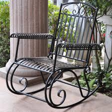 Nocona Iron Outdoor Porch Rocking Chair & Reviews | Birch Lane