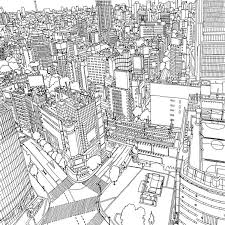 Fantastic Cities Coloring Book Tokyo