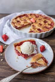 erdbeer rhabarber pie rezept food princess ch