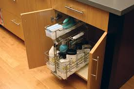 Under Cabinet Trash Can Holder by Under The Sink Storage Solutions Under Sink Pull Out Storage