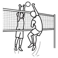 VOLLEYBALL COLORING PAGES TO COLOR