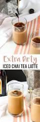 Pumpkin Spice Kahlua Drinks by Extra Dirty Iced Chai Tea Latte
