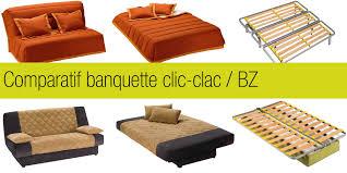 comparatif banquette clic clac et bz