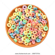 Delicious And Nutritious Fruit Cereal Loops Flavorful In Wooden Bowl On White Background 299773754