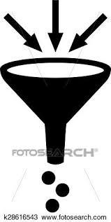 Clipart Of Filter Funnel Symbol K