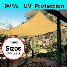 Sun Shade Sail Garden Patio Party Sunscreen Awning Canopy 98 UV Block Rectangle 43 M