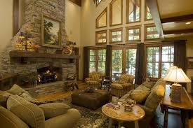 Living Room Stone Fireplace Rooms Design Great Family