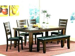 Bench Style Dining Table Picnic Farmhouse Room Set Be