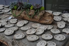 Rustic Wedding Names On Wood Slices