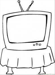 Images On Television Colouring Pages