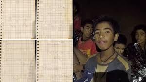 Los Niños Atrapados En La Cueva De Tailandia Enviaron Cartas A Sus