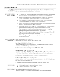 Golf Pro Resume Examplesgolf Professional Example Resumes Examples