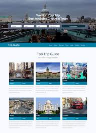 Trip Guide Travel Website 5 Bootstrap Template