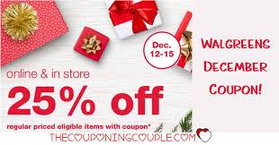 Walgreens December 25% Off Coupon! Save On Regular Priced ...