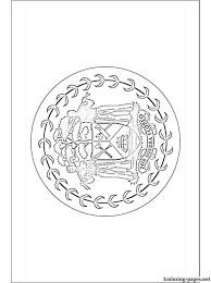 Belize Flag Coloring Page