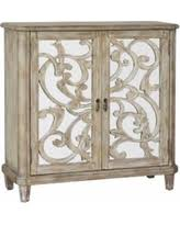 spectacular deal on pulaski hand painted tall wine cabinet brown