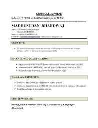 19 Pdf Fresher Hindi Teacher Resume Format