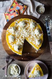 mango skyr cheesecake mit fruchtspiegel ohne backen