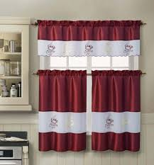 Amazon Kitchen Window Curtains by 3 Piece Kitchen Window Curtain Set One Valence And Two Tiers