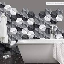 sechseckige boden aufkleber für küche und badezimmer