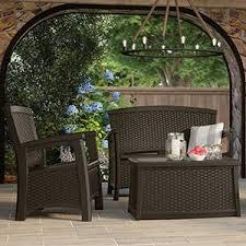 Suncast Outdoor Patio Furniture by Amazon Com Suncast Elements Outdoor 40 Inch Wide Cabinet