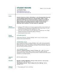 Resume Examples Scholar Student