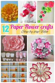 12 Step By DIY Papers Made Flower Craft Ideas For Kids Diy How To Make Paper
