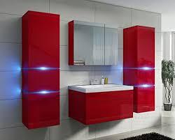 badezimmer rot hochglanz mit siphon echt lackiert