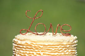 Rustic Wire Love Wedding Cake Toppers