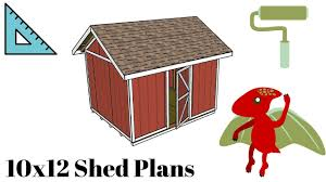 Free 10x12 Gable Shed Plans by How To Build A 10x12 Shed Youtube