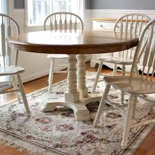 French Country Style Pedestal Dining Room Table And Chairs