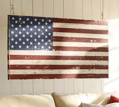 Pottery Barn Metal Wall Decor by Painted American Flag Pottery Barn