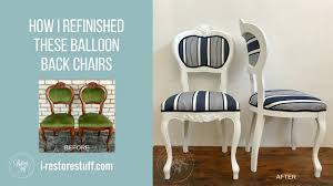 Press Back Chairs Oak by How I Refinished Old Balloon Back Chairs Hamptons Style Youtube