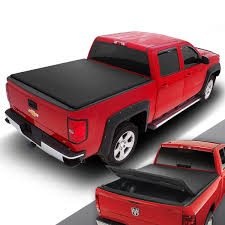 100 F150 Truck Cover DNA Motoring For 0414 Ford 55 Vinyl Soft TriFold Tonneau