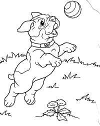 Puppy Printable Coloring Pages Free Puppies For Kids Online