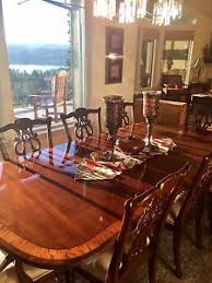 Ethan Allen Mahogany Dining Room Table by Holiday Elegance Ethan Allen 18th Century Collection Mahogany