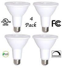 4 pack bioluz led par30 bulb 12w dimmable flood light 100w halogen