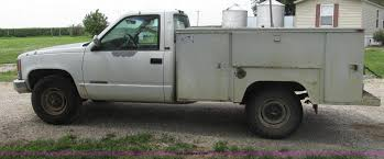 100 Chevy Utility Trucks For Sale 1995 Chevrolet 2500 Utility Truck Item F7449 SOLD Augus